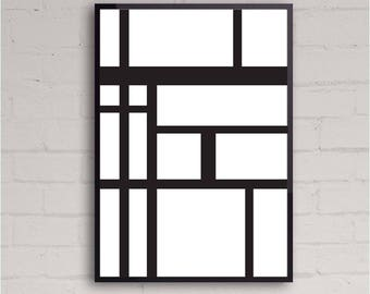 Abstract lines   Geometry   Shapes   Printable Wall Art Design   Home Decor   Instant Download   Various Sizes   Contemporary Art