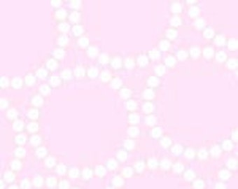 Pearl Bracelet in Candy by Lizzy House for Andover Fabrics A-4116-E Light Pink   - 1/2 yard