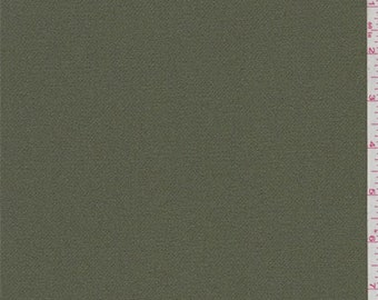 Olive Green Polyester Crepe, Fabric By The Yard
