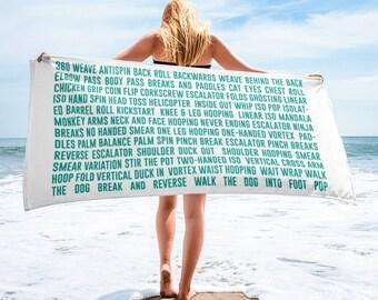Hoop Trick List  Beach Towel