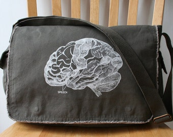 Brain Canvas Messenger Bag Laptop Bag Bag for Men Bag for Women
