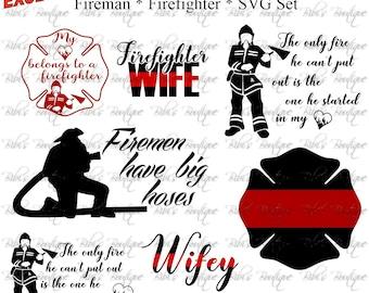 Fireman SVG * Firefighter SVG * First Responder* SVG * Cricut, Silhouette * Exclusive!