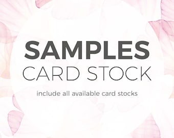 SAMPLES -  Card stock