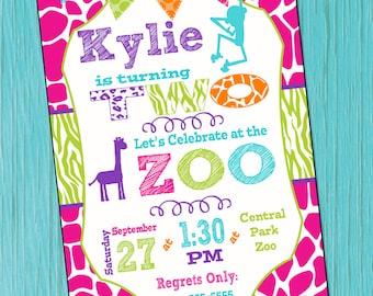 Zoo Birthday Invitation Girls Zoo Birthday Invitation Girls Zoo Birthday Party Invitation