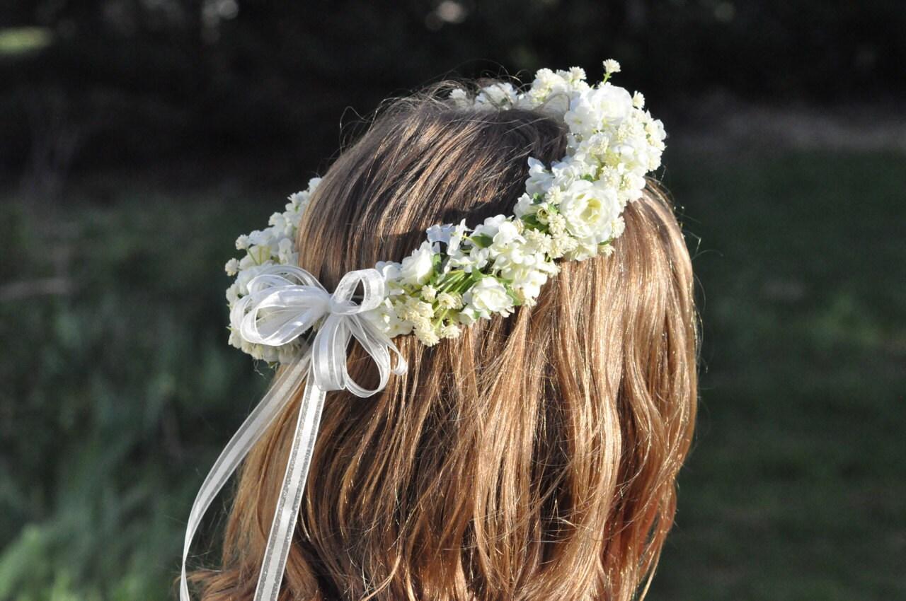 Favoloso Ragazza corona di fiori prima comunione corona fiori VN61