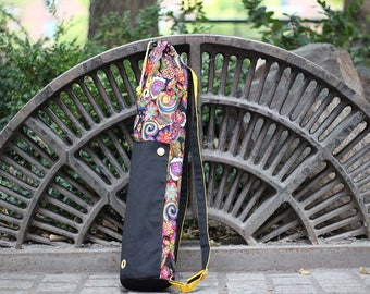 Funky Flower yoga mat backpack