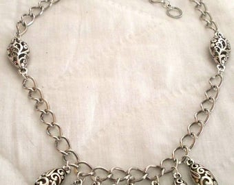 Hypoallergenic silver plated nickel free necklace