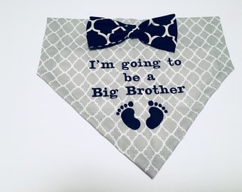 Big Brother, Gender Reveal, Dog Bandana, I'm going to be a Big Brother, Pregnancy reveal,  Dog Lovers Gift, Photo shoot, new baby