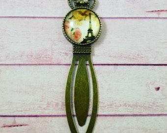 Paris Bookmark, glass cabochon, bookmarks, Paris