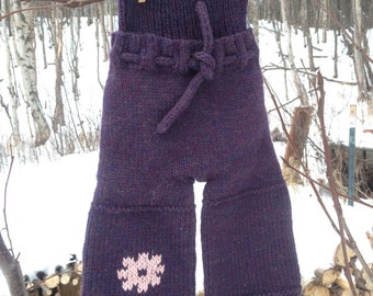 Medium Wool Sneaky Soaker (longies, cloth diaper cover) that you can use with bodysuits and snapping t-shirts!