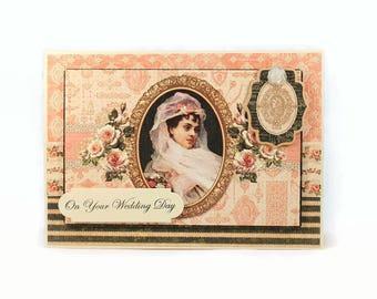 Wedding Card, On Your Wedding Day, Wedding Shower, Bridal Shower, Elegant Wedding Card, Wedding Gift, Wedding Couple, Card For Bride
