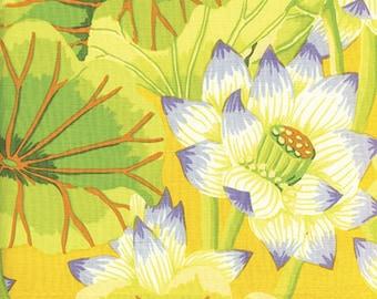 1/2 Yard Lake Blossoms Yellow  Kaffe Fassett  fabric  GP93