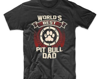 World's Best Pit Bull Dad Graphic T-Shirt