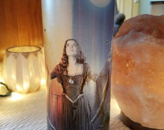 Sun and moon witch wiccan vase candle holder luminaries light