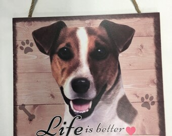 Jack Russell Gifts, Jack Russell Wood Sign Gift