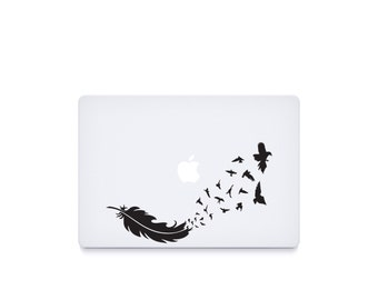 Birds Feather-----Macbook Decal Macbook Sticker Mac Decal Mac Sticker Decal for Apple Laptop Macbook Pro