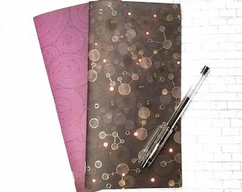 Purple Potion Gel Ink Journals - Junk Journal - Standard Traveler's Notebook Insert - TN Blank Book - Handmade Journal Insert - Set of 2