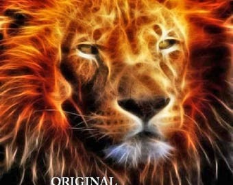 Lion Fire... ~Counted~ Cross Stitch Pattern ~Computer Generated~... BBXS