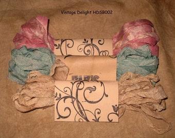 Seam Binding Hand Dyed - Distress Antiqued Vintage Inspired - Crinkled - Vintage Delight Paris Market (HDSB002) ECS