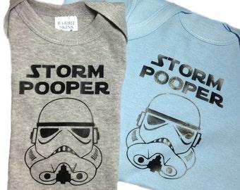 Storm Pooper onesie / creeper- black design