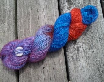 FRESH BERRIES, Hand spun, hand dyed, alpaca yarn