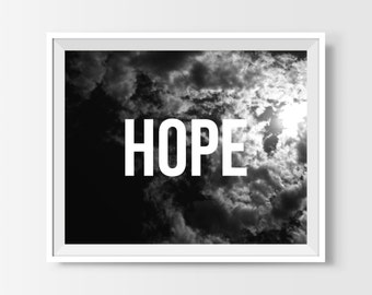 Sky Photography, Sky Print, Sky Quote, Sky Immage, Black And White Photography, Hope Sign, Sky Wall Art, Printable Art, Instant Download
