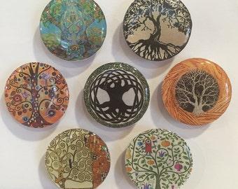 Tree of Life Refrigerator Magnets - set of 7