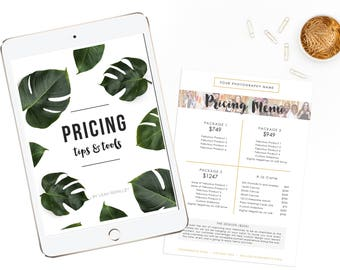 Pricing Tips & Templates for Professional Photographer - Instant Download