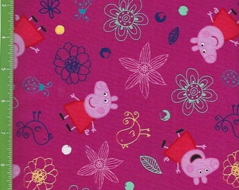 Peppa Pig ,with bird,butterfly,Lady Bug,Flowers