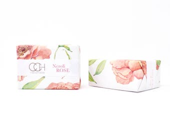 Neroli Rose Soap 4 Bar Collection Handmade Soap - FREE Shipping