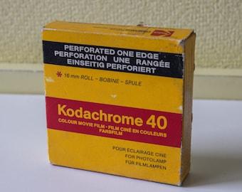 Kodachrome 40 type A - 16mm colour movie film - 30m / 100ft - KMA 455 P - Vintage movie film - reel of expired film