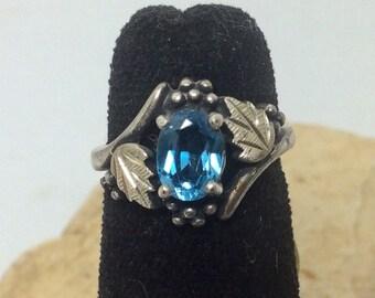 Dakota Sterling Silver Blue Topaz Womens Ring NOS Wheeler