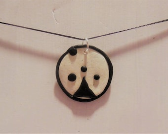 Black and white abstract necklace