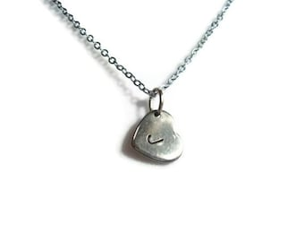 Personalized Heart Pendant Necklace
