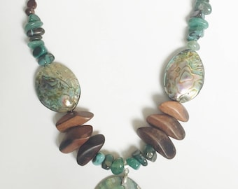 Earthly Wonder* abalone shell pendant necklace
