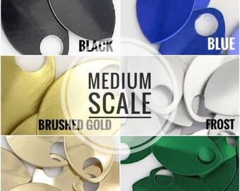MEDIUM Scale - Anodized Aluminum (50 / bag)