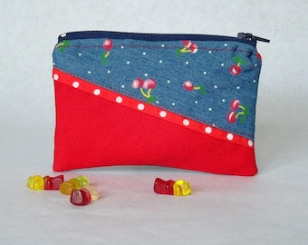 """Wallet """"Hummingbird"""" red and cherry"""