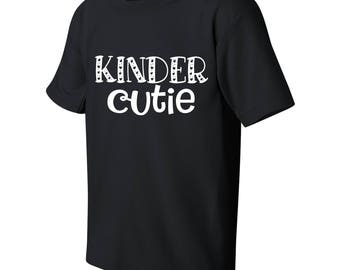 Kinder Cutie Kid's Kindergarten Funny T-shirt with Saying