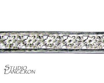 935 Sterling Silver Bezel wire, Gallery wire, Gallery ribbon, Gallery pattern, Sterling silver, Wire, Silver wire, Silver - 4 inch (10 cm)