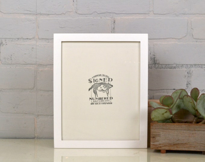 """8.5 x 11"""" Picture Frame in 1x1 Flat Style and Color OF YOUR CHOICE - Letter Size Document Frame 8.5x11 - Wooden Frame Handmade"""