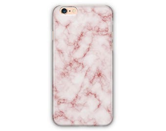Pink Marble Phone Case for iPhone 8/8plus 7 /7Plus, iPhone 6/6Plus iPhone5 Samsung Galaxy S7/7 edge / S6 / S6 edge/S5