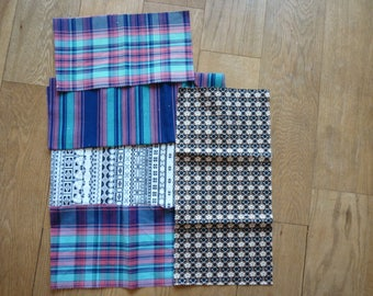 set of 77 patchwork fabrics coupons