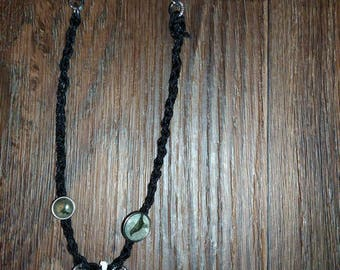 Crow Vertebrae Corded Necklace