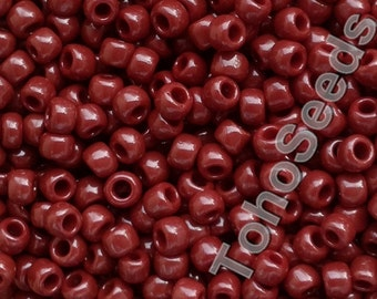 Toho Seeds Beads 6/0 Opaque Oxblood Brown TR-06-46 Big Rocailles size 6 Dark Brown