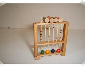 Miniature Dollhouse Croquet Set /Minis /Supplies*
