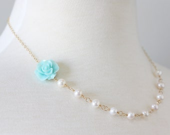 In the Garden Necklace - 14k gold-filled with freshwater pearls