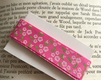 Pink floral stripe