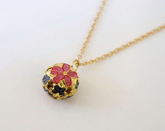 Hand painted Bell Necklace
