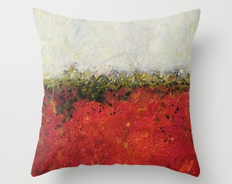 Red Throw Pillow Cover, White Pillow, Decorative Pillows, Colorful Pillows, Abstract Pillow, Throw Pillows, Sofa Accent Pillow, Cushions