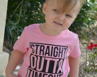 Straight Outta Timeout Shirt or Baby Bodysuit - Funny Toddler Shirt, Birthday Shirt, Kids Shirt